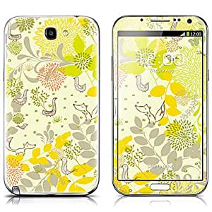 buy SX-078 Animal Pattern Front and Back Protector Stickers for Samsung Note 2 N7100