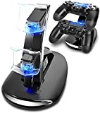 Lee York Playstation 4 Charger PS4 PS4pro PS4slim Playstation Controller Charger Dual USB Charging Station Stand Docking Playstation