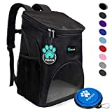 PetAmi Premium Pet Carrier Backpack for Small Cats and Dogs | Ventilated Design, Safety Strap, Buckle Support | Designed for Travel, Hiking & Outdoor Use (Black) For Sale