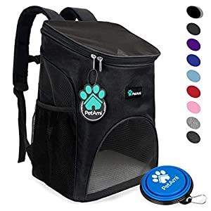 PetAmi Premium Pet Carrier Backpack for Small Cats and Dogs | Ventilated Design, Safety Strap, Buckle Support | Designed for Travel, Hiking & Outdoor Use 85