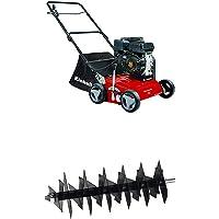 Einhell 3420020 GC-SC 2240 P Benzin-Vertikutierer 2.2 W, Schwarz, Rot + Einhell 3420021 Ersatzmesserwalze passend für Benzin-Vertikutierer GC-SC 2240 P