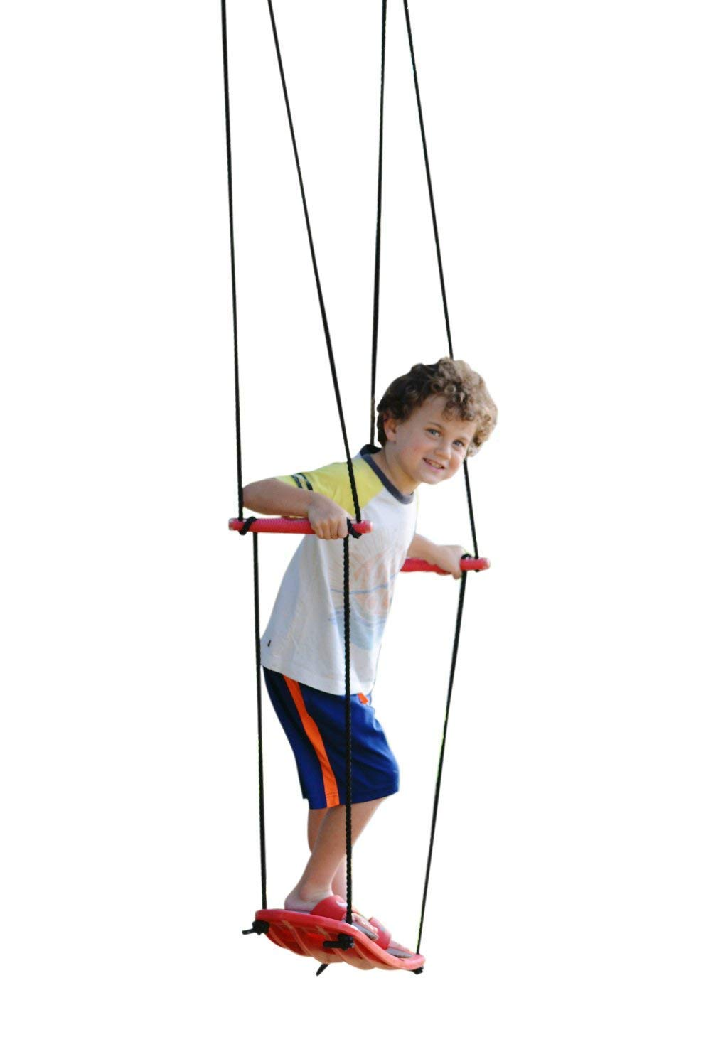 Swurfer Kick Stand Up Outdoor Surfing Tree Swing Kids Up to 150 Lbs - Hang from Up to 10 Feet High - Includes 24'' SwingBoard, UV Resistant Rope, & Handles by Swurfer