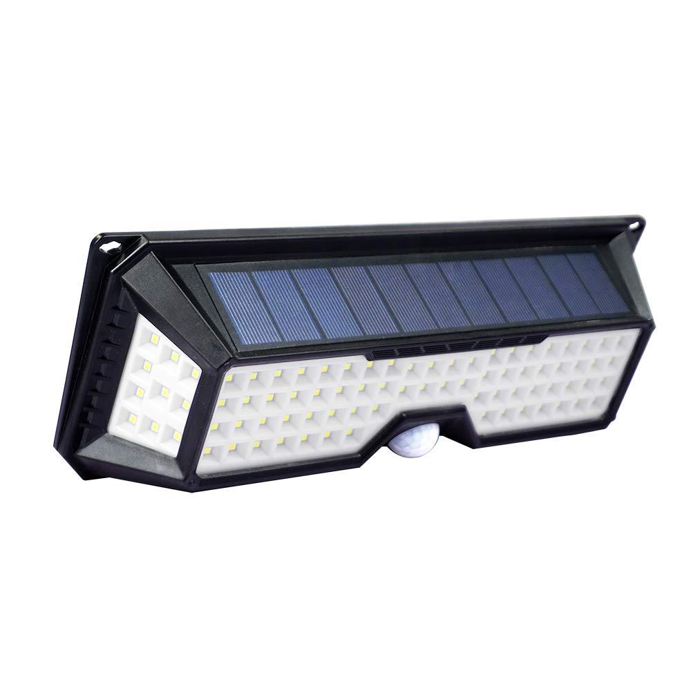 ECO LLC Solar Lights 136 LED Waterproof Outdoor Wall Lights Wireless Solar Motion Sensor Lights for Front Door,Backyard, Garage,Porch,Deck, Driveway(4 Pack)