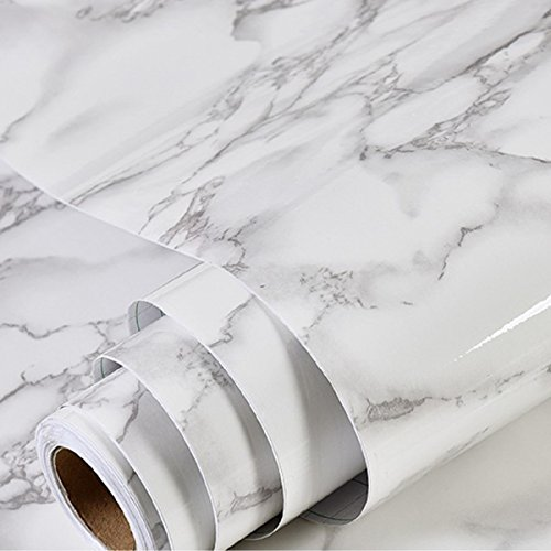 Sand Laminate Flooring (Marble Contact Paper Waterproof, oil proof marble contact paper High-quality granite paper for old furniture Self Adhesive Cover surfaces 17.71 inch x 78inch marble paper)
