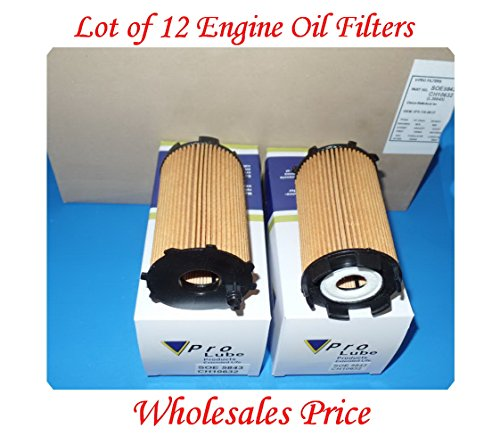 (Lot of 12) SOE5843 ENGINE OIL FILTER MADE IN KOREA FITS: AUDI A6 07-11 A8 07-12 Q7 07-10 R8 08-16 RS4 07-08 RS5 11-16 RS6 2010 S5 08-12 S6 07-11 S8 07-09 VW GALLARDO 09-11 TOUAREG 07-09
