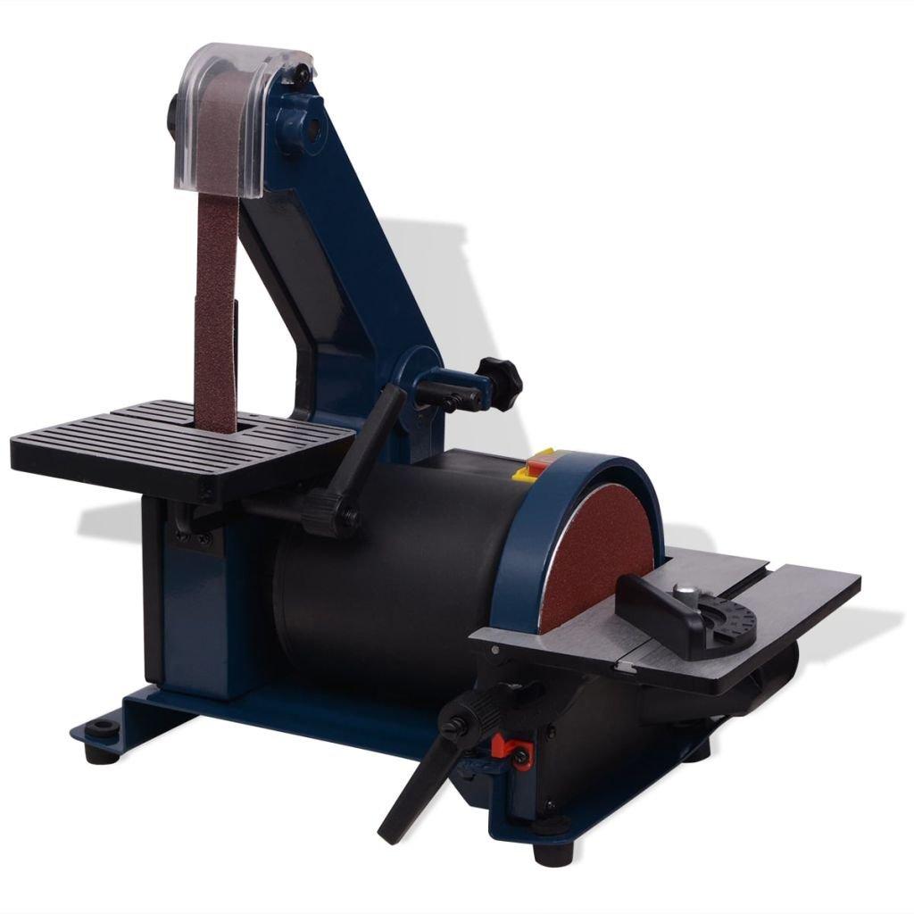 vidaXL Ponceuse à bande et à disque 300 W Machine à polir Ponceuse électrique ponçage