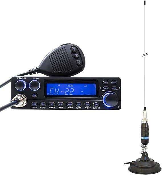 TTI Radio CB TCB-5289 de Anytone con Antena PNI S9 con imán ...