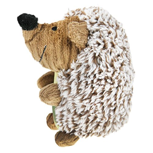 Plush Dog Puppy Toys Hedgehog Dog Toy Giggler Squeak Chew Toy Molar Teeth Cleaning Stuffed Animal Doll Squeaky Pet Toys Biting Training Playing Toys for Small and Medium Dogs Puppies