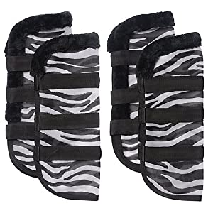 Tough 1 Zebra Mesh Fly Boots