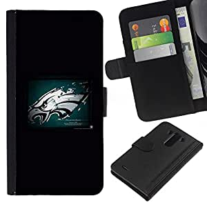 LECELL--Cuero de la tarjeta la carpeta del tirón Smartphone Slots Protección Holder For LG G3 -- Hawk Grunge --