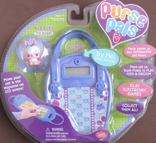 - PURSE PALS w SOUNDS, 3D INTERACTIVE Pet 'NIBBLES' the Bunny & PURSE w LCD Screen & INTERACTIVE Pet House (2006)
