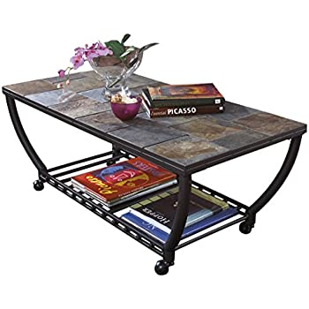 Delicieux Ashley Furniture Signature Design   Antigo Coffee Table   Slate Top With  Metal Bottom   Cocktail