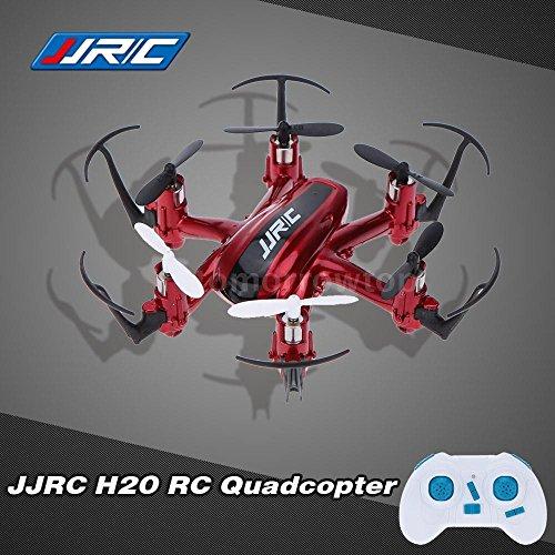 Drone JJRC H20 Mini One Key, diseño compacto y ligero, luces LED, para vuelo nocturno, Rojo