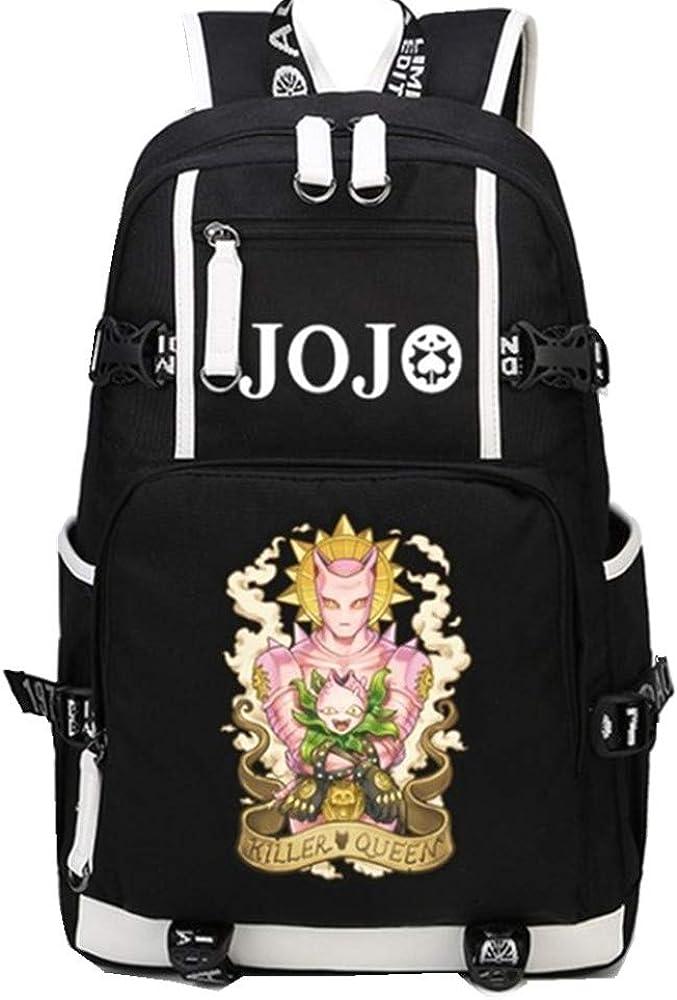 JoJo Bizarre Adventure Backpack KILLER QUEEN Bag Men Women USB Charging Laptop Bag 8