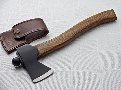 Ax-H-005, Handmade Hi Carbon Steel Solid Axe – Beautiful Exotic Wood Handle
