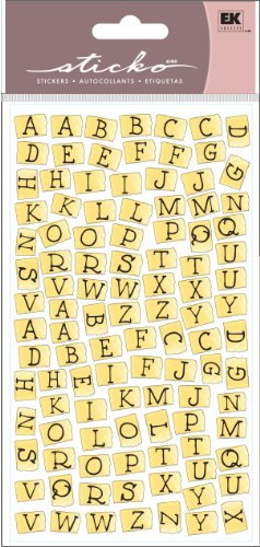 EK Success Sticko Stickers, Tape Alphabet