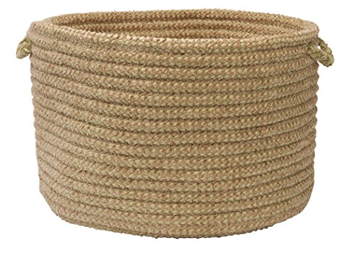 Colonial Mills Softex Check Utility Basket, 18 by 12-Inch, Celery