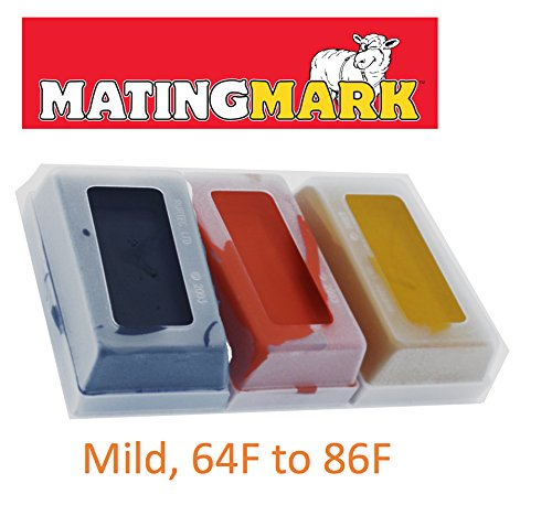 MATINGMARK Sheep & Goat Mating Crayon Block Marker for Ram Breeding/Marking Harness by Rurtec, 3 Pack (MILD Temperature) Made in New Zealand (Mild Yellow, Orange, Purple) by MATINGMARK (Image #5)