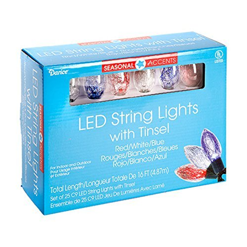 Red And Green C9 Led Lights - 7