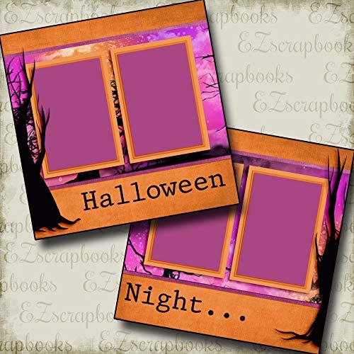 Halloween Night - Premade Scrapbook Pages - EZ Layout 3348 -