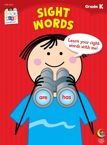 Sight Words Stick Kids Workbook, Grade K (Stick Kids Workbooks)