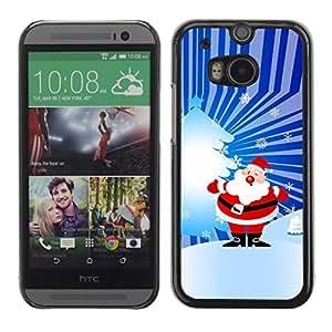 YOYO Slim PC / Aluminium Case Cover Armor Shell Portection //Christmas Holiday Santa Claus Holiday 1038 //HTC One M8