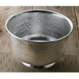 """15"""" Hammered Round Aluminum Punch Bowl by KINDWER"""