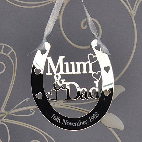 Personalised Auntie And Uncle Wedding Horseshoe Good Luck Keepsake
