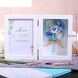 European live roses picture frame Eternal flower gift box Birthday gift-I