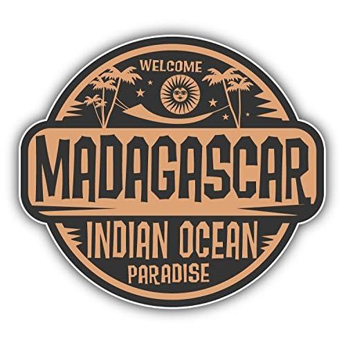 Madagascar Welcome Label Autocollant Voiture Decoration de Vinyle 12 X 10 cm