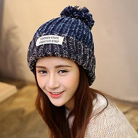 Invierno Knit Beanie gorro Mujer Niñas Chunky Cable Knit gorro de ...