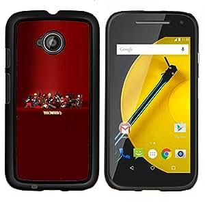 Qstar Arte & diseño plástico duro Fundas Cover Cubre Hard Case Cover para Motorola Moto E2 E2nd Gen (Tf 2 - Equipo F0Rtress Juego)