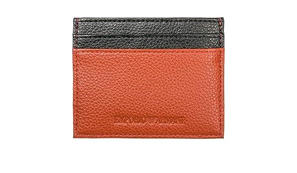 Emporio Armani carteras hombre orange/black: Amazon.es: Ropa y accesorios