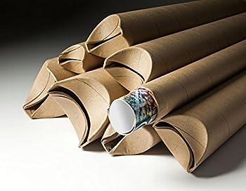 "Yazoo Mills 3"" x .070 x 18"" Kraft Snap Seal Mailing Tubes (Pack of 15)"