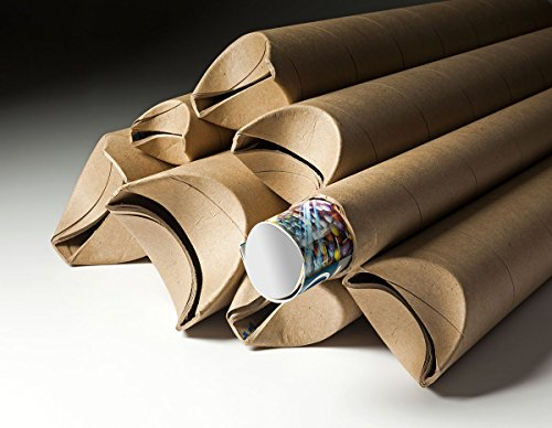 Yazoo Mills 3'' x .070 x 18'' Kraft Snap Seal Mailing Tubes (Pack of 15) by YAZOO Mills