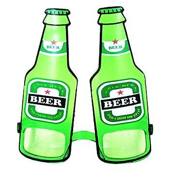 Tinksky Plástico Cerveza Fest Gafas Gafas De Sol Cerveza Botella Copa Gafas Fancy Dress Funny Novedad