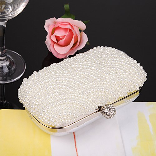 Party Wedding Purse Widewing Evening Handmade Pearl Clutch Crystal Hot Bag Beaded qxvqF4z