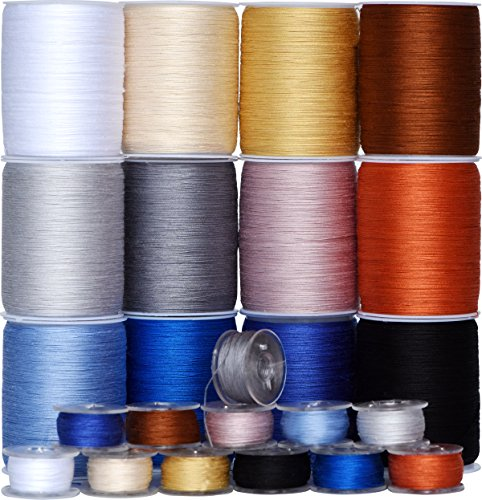 Colored Bird Total 1800Yds 50wt(50/3) Mixed Colored Long-Staple Cotton Sewing Thread Spool, Serger Thread Set -12 Spools,150Yds Each -for Quilting, Single Needle,Machine Embroidery,Ovelock (Color 2) -