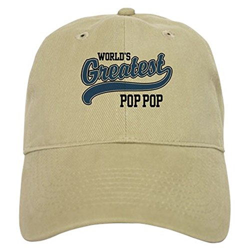 Greatest Pop (CafePress - World's Greatest Pop Pop Cap - Baseball Cap with Adjustable Closure, Unique Printed Baseball Hat)