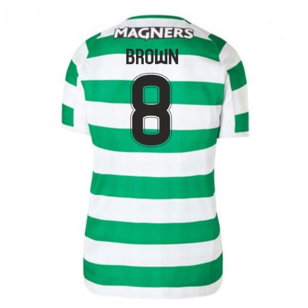 2018-2019 Celtic Home Ladies Football Soccer T-Shirt Trikot (Scott Braun 8)