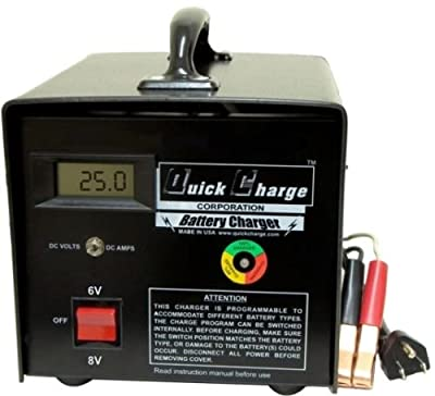 Battery Charger 6 & 8 Volt Golf Cart Batteries, 25 Amp