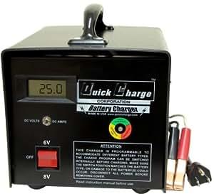 battery charger 6 8 volt golf cart batteries 25 amp sports outdoors. Black Bedroom Furniture Sets. Home Design Ideas