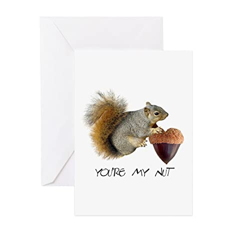Amazon Cafepress Squirrel Heart Nut Greeting Card Note