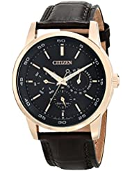 Citizen Mens Eco-Drive Stainless Steel Watch with Day/Date, BU2013-08E