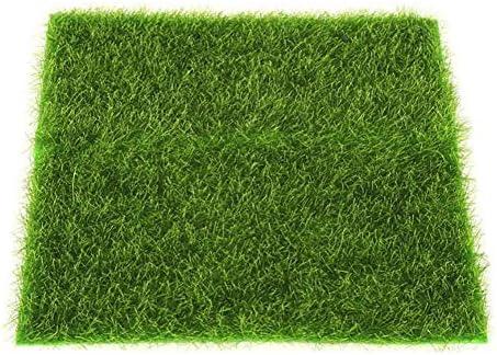 Künstliche Grasmatte Simulation Rasen Kunstrasen für Garten Balkon Haus Deko, Kunstrasen Kunststoffrasen Park Meterware | wasserdurchlässig für Balkon, Terrasse, Garten | UV-Garantie in Grün