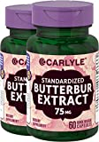 Carlyle Butterbur Extract 75mg 120 Capsule PA Free