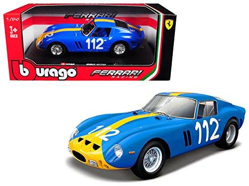 Bburago Ferrari 250GTO, 1962, Model Car, 26305bl, Blue/Yellow Scale 1: 24