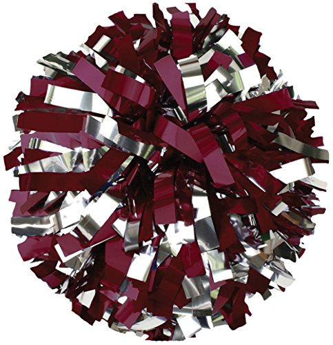 Youth 2-Color Metallic Cheerleading Pom Mmar/Msil ()