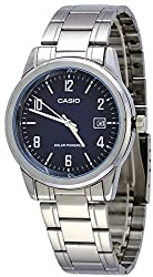 Casio MTP-VS01D-2B Men's Standard Solar Powered Stainless Steel Date Watch