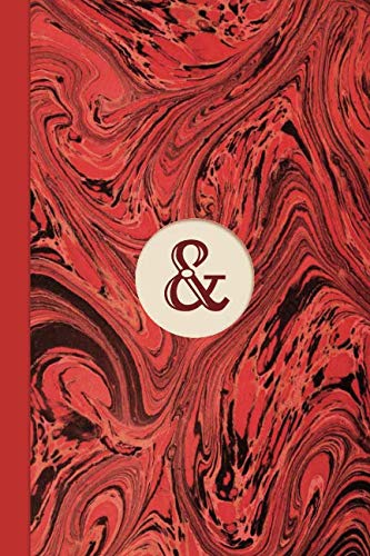 Monogram Symbol Ampersand Memo Marble Notebook (Regency Red Edition): Blank Lined Journal for Writing: Reminders, Lists, Tasks, Agendas, Tracking, Motivation & Memos